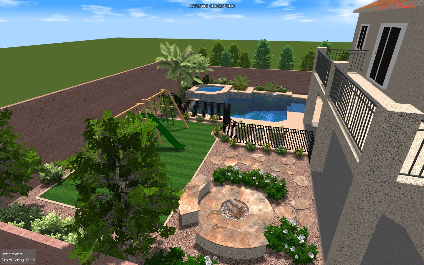 Landscape Design Las Vegas Can Trust Greencare Net Pool Builders ...