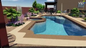Las Vegas landscaping 3d rendering