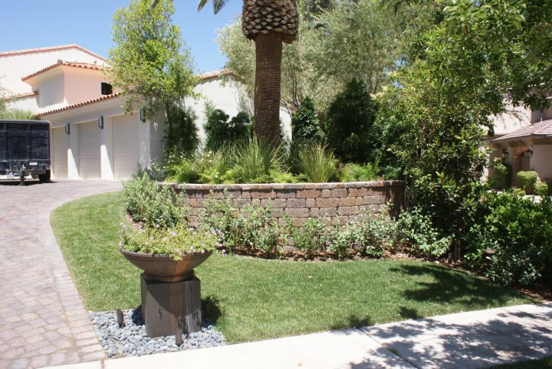 Lawns, trees, plants