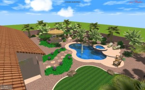Las Vegas swimming pools construction 3D design
